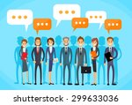 business people group talking... | Shutterstock .eps vector #299633036