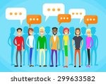 people group chat social... | Shutterstock .eps vector #299633582