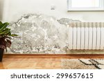 damage caused by damp on a wall ... | Shutterstock . vector #299657615