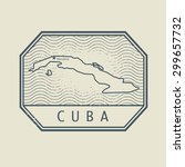 stamp with the name and map of... | Shutterstock .eps vector #299657732