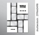 vector brochure   report   book ... | Shutterstock .eps vector #299663498