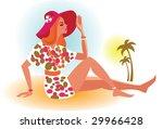 beach girl | Shutterstock .eps vector #29966428