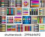 colorful modern text box... | Shutterstock .eps vector #299664692