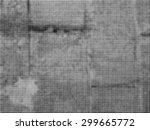 grunge halftone dots vector...   Shutterstock .eps vector #299665772