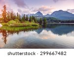 majestic mountain lake in... | Shutterstock . vector #299667482