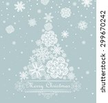 xmas greeting with paper... | Shutterstock .eps vector #299670242