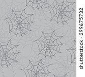 cobweb seamless pattern. vector ... | Shutterstock .eps vector #299675732