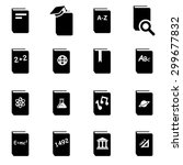 vector black schoolbook icon... | Shutterstock .eps vector #299677832