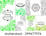 wedding invitation cards with... | Shutterstock .eps vector #299677976