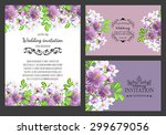 vintage invitation card of... | Shutterstock .eps vector #299679056