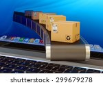 online purchases and internet... | Shutterstock . vector #299679278