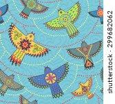 seamless pattern. ethnic... | Shutterstock .eps vector #299682062