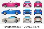 vector cabriolet   profile  ... | Shutterstock .eps vector #299687576