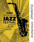 vector illustration of jazz... | Shutterstock .eps vector #299690732