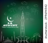 14 august. pakistan... | Shutterstock .eps vector #299694542
