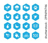 ecology icons universal set for ... | Shutterstock .eps vector #299694746
