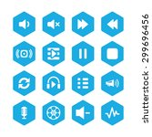dj icons universal set for web... | Shutterstock .eps vector #299696456