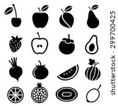 fruits and vegetables icons... | Shutterstock .eps vector #299700425