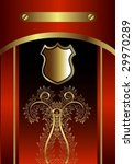 classic golden royal card with... | Shutterstock .eps vector #29970289