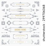 set of vintage decorations... | Shutterstock .eps vector #299706368