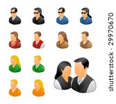 professional business people... | Shutterstock . vector #29970670