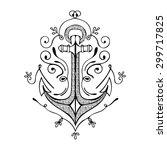 vintage hand drawn flourish... | Shutterstock .eps vector #299717825