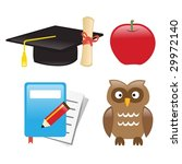 icons education   Shutterstock .eps vector #29972140