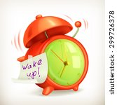Wake Up  Alarm Clock Vector Icon