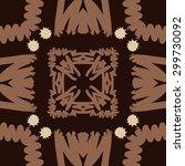 circular seamless  pattern of... | Shutterstock . vector #299730092