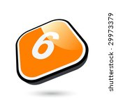 modern number six symbol | Shutterstock .eps vector #29973379