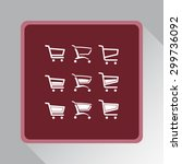 shopping carts sign icon ... | Shutterstock .eps vector #299736092