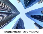 up view in financial districtg  ... | Shutterstock . vector #299740892