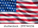close up of the flag of the... | Shutterstock . vector #299744156