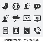 technology and modern... | Shutterstock .eps vector #299750858