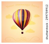 balloon with clouds on a orange ... | Shutterstock .eps vector #299759912