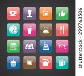 cafe icons universal set for... | Shutterstock . vector #299763506