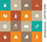 clothes icons universal set for ...   Shutterstock . vector #299767298