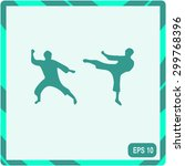 the set of martial art... | Shutterstock .eps vector #299768396