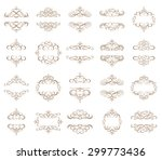 vector set   calligraphic... | Shutterstock .eps vector #299773436