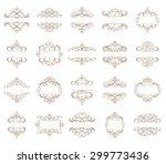 vector set   calligraphic... | Shutterstock .eps vector #299773436