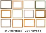 set of 12 pcs various wooden... | Shutterstock . vector #299789555