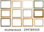 set of 12 pcs various wooden... | Shutterstock . vector #299789555