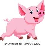 cute pig cartoon | Shutterstock . vector #299791202