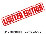 limited edition red stamp text... | Shutterstock .eps vector #299813072