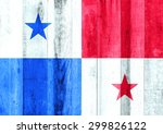 panama flag on wooden background | Shutterstock . vector #299826122