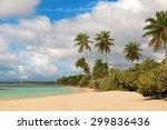 beautiful white sand beach in... | Shutterstock . vector #299836436