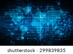 dark blue color light abstract... | Shutterstock .eps vector #299839835