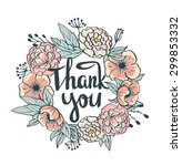wreath of roses  peonies.... | Shutterstock .eps vector #299853332