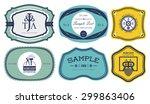 vintage labels 4 | Shutterstock .eps vector #299863406
