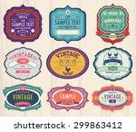 vector set vintage labels 2   Shutterstock .eps vector #299863412